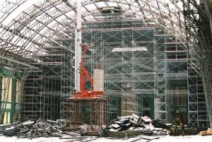 Монтаж строительных лесов Layher