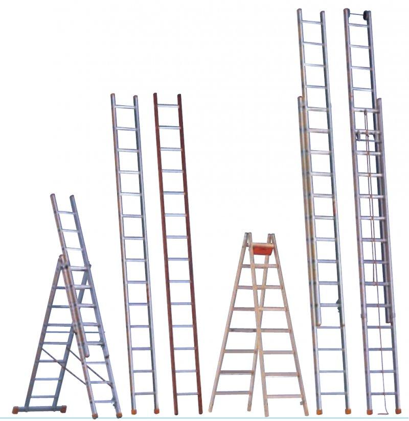 Лестницы Layher из алюминия и дерева